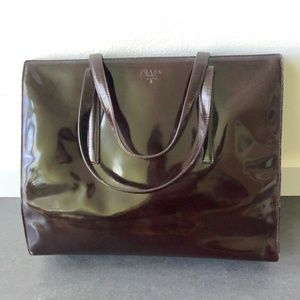 Prada Patent Leather Tote